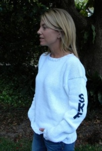 This is our best selling and most re-pinned monogrammed sweater! Love!